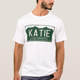 T-shirt de plaque minéralogique de KATIE le