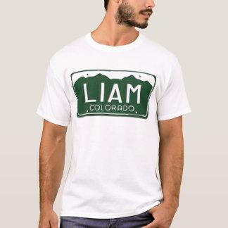 T-shirt de plaque minéralogique de LIAM le