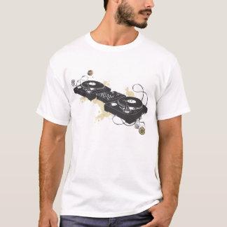 T-shirt de plaque tournante du DJ