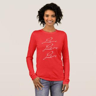 T-shirt de plein-douilles de rouge avec le texte