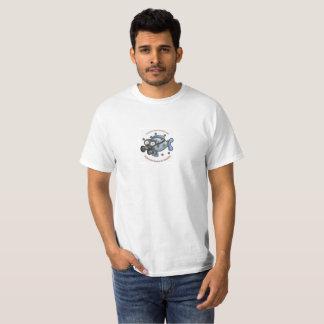 T-shirt de poissons du rayonnement des hommes
