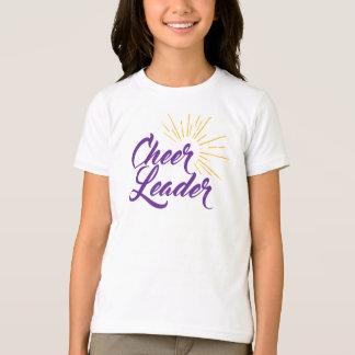 T-shirt de pom-pom girl - pourpre et or