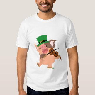 T-shirt de porc de violoniste du jour de St