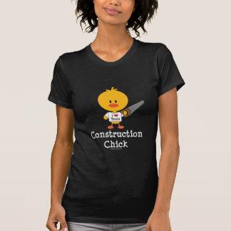 T-shirt de poussin de construction