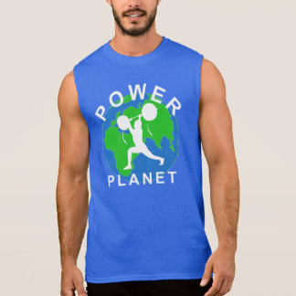 T-shirt de Powerlifting de planète de puissance