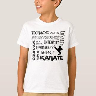 T-shirt de principes de ceinture noire de karaté