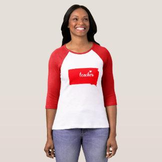 T-shirt de professeur du Dakota du Sud (rouge)