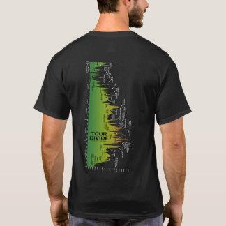 T-shirt de profil d'altitude de clivage de visite