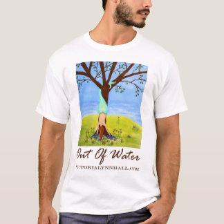"""T-shirt de promo d'art de sirène """"hors d'eau"""""""