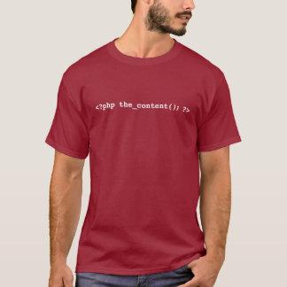 T-shirt de promoteur de WordPress