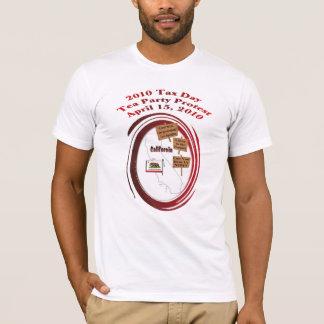 T-shirt de protestation de thé de jour d'impôts de