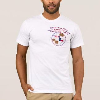 T-shirt de protestation de thé de jour d'impôts du