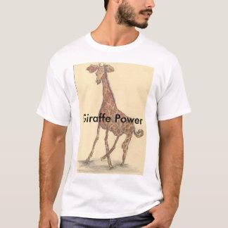 T-shirt de puissance de girafe