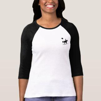 T-shirt de raglan de cavaliers de distance