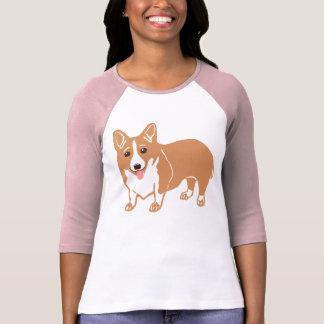 T-shirt de raglan de dames de corgi de Gallois