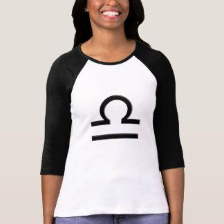 T-shirt de raglan de dames de symbole de zodiaque