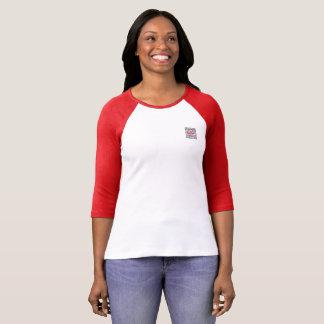 T-shirt de raglan de la douille des femmes de