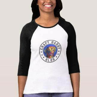 T-shirt de raglan de la douille des femmes de blog