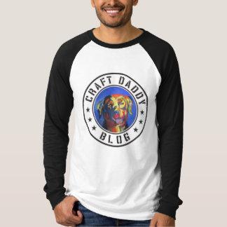 T-shirt de raglan de la douille des hommes de blog