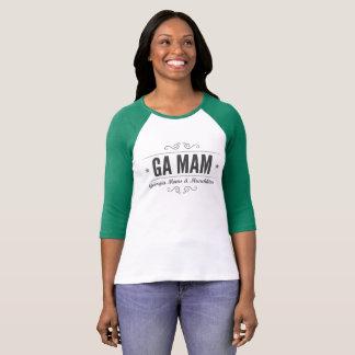T-shirt de raglan de MAMAN de GA