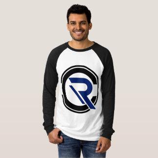 T-shirt de raglan de noir de la douille des hommes