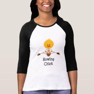 T-shirt de raglan de poussin d'aviron