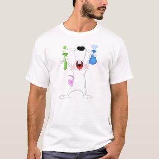 T-shirt de rat de laboratoire de tube à essai