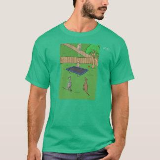 T-shirt de rebond de trempoline de kangourou