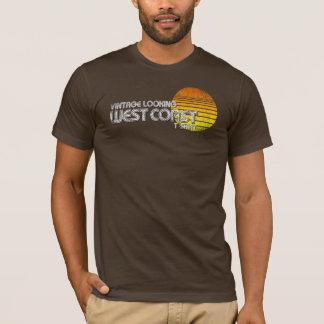 T-shirt de regard vintage de côte ouest