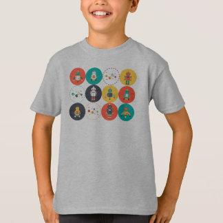 T-shirt de règle de robots