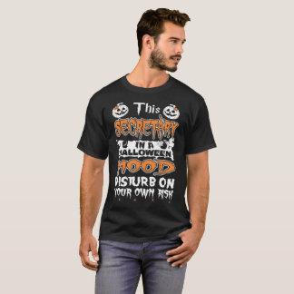 T-shirt de risque de secrétaire Halloween Mood