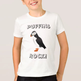 T-shirt de roche de macareux