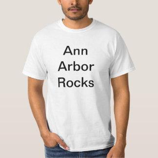 T-shirt de roches d'Ann Arbor
