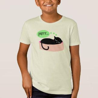 T-shirt de ronronnement de chat - enfants
