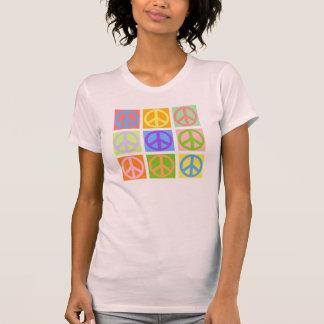 T-shirt de rose de signe de paix - PLUS colore