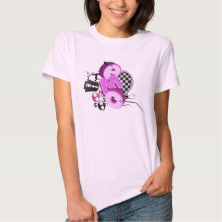 T-shirt de rose de typographie d'Emo
