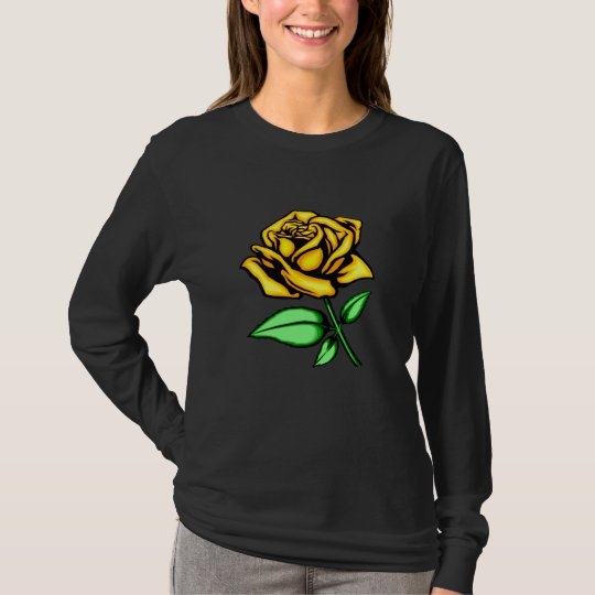T-shirt de rose jaune