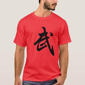 T-shirt de rouge de caractère chinois de Kung Fu
