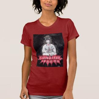T-shirt de rouge de KUAN YIN