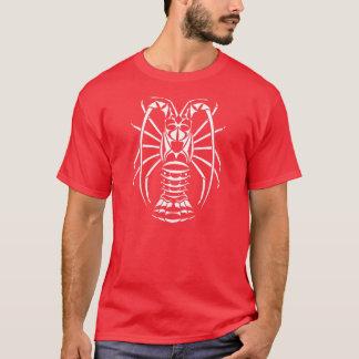T-shirt de rouge de langouste