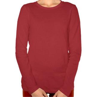 T-shirt de rouge des vacances LS de nuit des