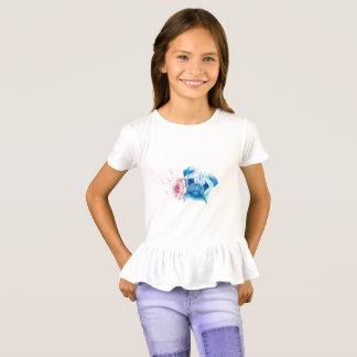 T-shirt de ruche de filles d'amour de carlin