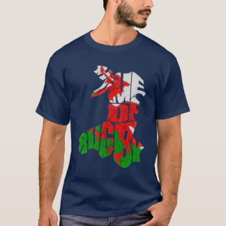 T-shirt de rugby de Gallois d'impression de dos de
