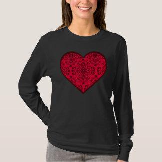 T-shirt de Saint-Valentin de damassé