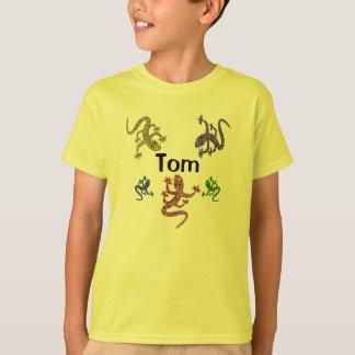 T-shirt de salamandre de Tom - conception