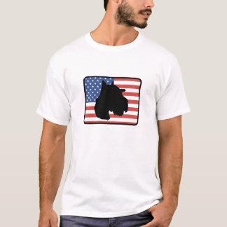 T-shirt de Schnoodle d'Américain