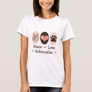 T-shirt de Schnoodles d'amour de paix