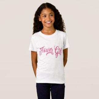 T-shirt de scintillement de rose de demoiselle de