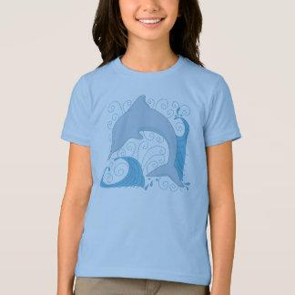 T-shirt de secousse de dauphin
