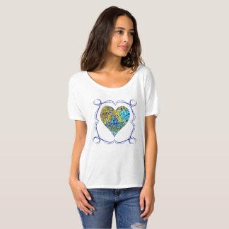 T-shirt de sifflement de turquoise